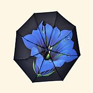 루프 패션 비닐 우산 자외선 우산 창조적 인 일 나팔꽃 인쇄 기압계