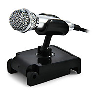 Mini Condenser Microphone Karaoke Voice Recording Mobile Phone Computer For Smart Phones Laptops