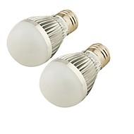 3 E26/E27 LED gömbbúrás izzók A60(A19) 6 SMD 5730 250 lm Meleg fehér / Hideg fehér Dekoratív AC 220-240 / AC 110-130 V 2 db.