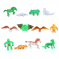 12pcs Animal Action Figures Set Modeling Eagle / Horse / Penguin / Bat / Platypus