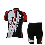 KEIYUEM רכיבת אופניים מדים בסטים / ג'רזי יוניסקס אופניים נושם / ייבוש מהיר / עמיד לאבק / לביש / דחיסה / כיס אחורי / נמתח / תומך זיעהשרוול