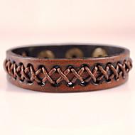 Ανδρικά Wrap Βραχιόλια Δερμάτινα βραχιόλια Μοντέρνα Βοημία Style Λατρευτός Χειροποίητο Δερμάτινο Geometric Shape Μαύρο Καφέ Κοσμήματα Για