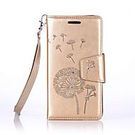 Mert Samsung Galaxy tok Kártyatartó / Pénztárca / Strassz / Állvánnyal / Flip Case Teljes védelem Case Pitypang Puha Műbőr SamsungJ7