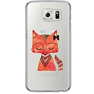 Red Fox Pattern Soft Ultra-thin TPU Back Cover For Samsung GalaxyS7 edge/S7/S6 edge/S6 edge plus/S6/S5/S4