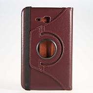 Na Samsung Galaxy Etui Z podpórką / Flip Kılıf Futerał Kılıf Jeden kolor Skóra PU Samsung Tab 4 7.0 / Tab 3 7.0 / Tab 3 Lite