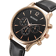 Unisex Kleideruhr / Modeuhr / Armbanduhr Quartz / Leder Band Cool Schwarz Marke