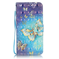 Gold Butterfly 3D Painted Patterns PU Leather Case Cover For Samsung GalaxyS7 edge/S7/S6 edge plus/S6 edge/S6/S5/S4