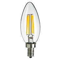 4W E14 360LM LED Filament Light Bulb Flame Tip Style(AC220-240V)