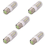 7W E26/E27 LED-maïslampen T 36 SMD 5730 580LM lm Warm wit / Koel wit Decoratief AC 220-240 V 5 stuks