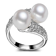 Κρίκοι,Εντυπωσιακά Δαχτυλίδια,Κοσμήματα Μαργαριτάρι / Ασήμι Στερλίνας / Ζιρκονίτηςcrossover / Μοντέρνα / Προσαρμόσιμη / Λατρευτός /