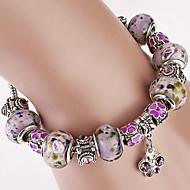Purple Strand Bracelet with Butterfly Pendant Charm Bracelet Christmas Gifts