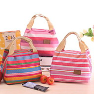 Korean Cute Cold Cooler Bag Picnic Lunch Bag With Bags Stripe Zipper Bag Lunch Box