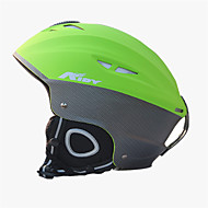 Dla obu płci Kask L: 58-61cm Sport Ultralekkie Naprawiono 14 CE EN 1077 Śnieg Sport / Ski Zielony PC / EPS
