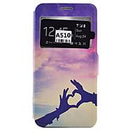 Na Samsung Galaxy Etui Etui na karty / Odporne na wstrząsy / Odporne na kurz / Z podpórką Kılıf Futerał Kılıf Serce Miękkie Skóra PU