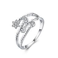 Κρίκοι Sexy / Μοντέρνα Γάμου / Πάρτι / Καθημερινά / Causal Κοσμήματα Ασήμι Στερλίνας Γυναικεία Εντυπωσιακά Δαχτυλίδια 1pc,Ρυθμιζόμενο