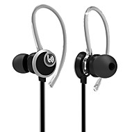 Beevo EM400 Stereo Sport Earphones with Detachable Ear Hook MIC Volume Control Running  Noise Reduction HIFI Headphone