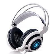 Sades Magic Feather ヘッドホン(ヘッドバンド型)Forメディアプレーヤー/タブレット / コンピュータWithマイク付き / DJ / ボリュームコントロール / FMラジオ / ゲーム / スポーツ / ノイズキャンセ / Hi-Fi