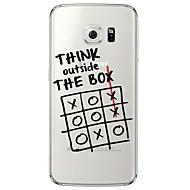 Für Samsung Galaxy S7 Edge Transparent / Muster Hülle Rückseitenabdeckung Hülle Zeichentrick Weich TPU SamsungS7 edge / S7 / S6 edge plus