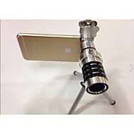 General cat clip 12 times mobile phone telephoto lenses telescopic camera lens for Apple samsung millet