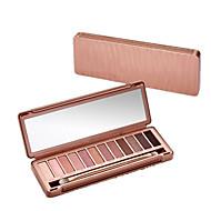 12 Paleta de Sombras Secos Paleta da sombra Pó Normal Maquiagem para o Dia A Dia / Maquiagem Esfumada