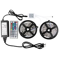 KWB Led Strip Lights Kit waterproof SMD 5050 32.8 Ft (10M) 300leds RGB with 44key Ir Controller and Power Supply
