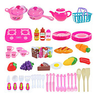 54pcs Cooking Cutting Fruit/Vegetables Pretend Play Toys DIY Toys Set
