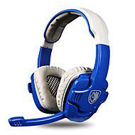 Sades SA-806 ヘッドホン(ヘッドバンド型)Forメディアプレーヤー/タブレット / コンピュータWithマイク付き / DJ / ボリュームコントロール / FMラジオ / ゲーム / スポーツ / ノイズキャンセ / Hi-Fi