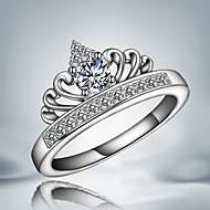 バンドリング クリスタル 純銀製 ジルコン 幸福 タッセル ファッション シルバー ジュエリー 結婚式 パーティー 日常 カジュアル 1個