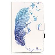 Na Samsung Galaxy Etui Etui na karty / Portfel / Z podpórką / Flip / Wzór Kılıf Futerał Kılıf Pióro Miękkie Skóra PU SamsungTab E 9.6 /