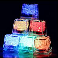couleur 12pcs cubes de glace changeant conduit fête de mariage lumière bar restaurant noël