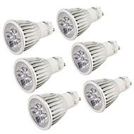 5 GU10 LED-kohdevalaisimet MR16 5 Teho-LED 500 lm Kylmä valkoinen Koristeltu AC 85-265 V 6 kpl