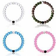Strand Rannekorut 1kpl,Bikini / Inspiraatio Circle Shape Vaalean pinkki / Valkoinen / Sininen / Pinkki Silikoni Korut Lahjat
