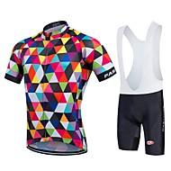 Esportivo Camisa com Bermuda Bretelle Homens / Unissexo Manga Curta MotoSecagem Rápida / Zíper Frontal / Vestível / Alta Respirabilidade