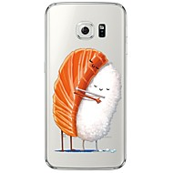 Sushi Pattern Soft Ultra-thin TPU Back Cover For Samsung GalaxyS7 edge/S7/S6 edge/S6 edge plus/S6/S5/S4