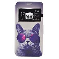 Mert Samsung Galaxy tok Kártyatartó / Ütésálló / Porálló / Állvánnyal Case Teljes védelem Case Kutya Puha Műbőr SamsungA9(2016) /
