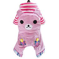 犬用品 ジャンプスーツ 犬用ウェア 冬 春/秋 アニマル ファッション ピンク カーキ色
