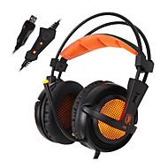 Sades A6 ヘッドホン(ヘッドバンド型)Forメディアプレーヤー/タブレット / コンピュータWithマイク付き / DJ / ボリュームコントロール / FMラジオ / ゲーム / スポーツ / ノイズキャンセ / Hi-Fi