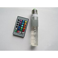 3W B22 / E26/E27 Ampoules LED Intelligentes T 1 LED Haute Puissance 100-210 lm RVB Commandée à Distance AC 85-265 V 1 pièce