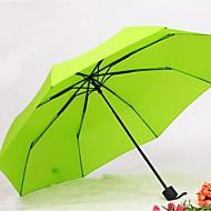 그린 / 블루 / 노란색 접는 우산 써니와 비오는 고무 레이디 / 남성
