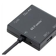 3 portas USB Portas multi Other Início Charger com cabo para iPad / para Celular / Para outros Pad high speed(5V , 1.5A)