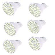 5 GU10 LED-spotlights MR16 80 SMD 2835 450 lm Varmvit / Kallvit Dekorativ AC 220-240 V 6 st
