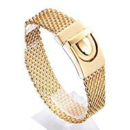 Férfi Lánc & láncszem karkötők Divat jelmez ékszerek Rozsdamentes acél Arannyal bevont 18K arany Geometric Shape Ékszerek Kompatibilitás