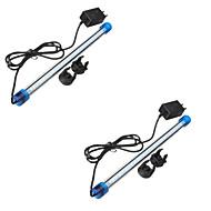 3W 4-pin Luces llevadas del acuario Tubo 27 SMD 2835 30-40 lm Blanco Fresco / Azul Decorativa / Impermeable AC 100-240 / AC 110-130 V2