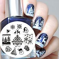 geboren hübschen Weihnachten Vorlage Nagelprägeplatte Bild Werkzeugnagelkunst