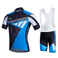 Fastcute® Cykeltrøje og Bib-shorts Dame / Herre / Børn / Unisex Kort Ærme CykelÅndbart / Hurtigtørrende / Fugtpermeabilitet / 3D Måtte /