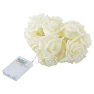 1 stk 23 * 16cm fashion ferie belysning rose blomst streng lys fairy bryllupsfesten juledekorasjon