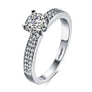 Pierścionki na palec środkowy Obrączki Duże pierścionki Srebro standardowe Cyrkon Cyrkonia Kamień szlachetny sztuczna DiamentBikini