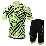 XINTOWN Riding Men Pro Team Sports Cycling Jersey Green Set Bike Bicycle Short Sleeve Jersey & Shorts S-XXXL