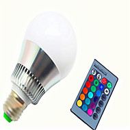 10 E14 / GU10 / E26/E27 Ampoules LED Intelligentes G80 1 LED Haute Puissance 450-500 lm lm RVB Gradable / Commandée à Distance AC 85-265 V