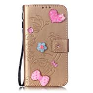 Teljes test pénztárca / Tárcatok / Strassz / állvánnyal / megfricskáz / Minta / Dombornyomott Tömör szín Műbőr Mekano Tok AppleiPhone 6s